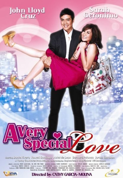 "Sarah Geronimo and John Lloyd Cruz in ""A very special Love"""