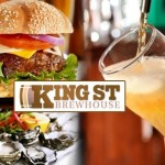 Grab a freshly brewed beer and a view at the King Street Brewhouse & Restaurant