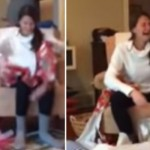 Watch This Woman Completely Lose The Plot After She Was Proposed To On Christmas Day!