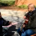 This Homeless Man Joined This Busker At The Park. Seconds Later Everyone's In Tears
