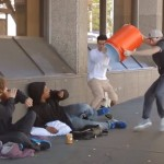 These Guys Poured A Water Cooler On Homeless People… The Reason Why Will Give You Goosebumps