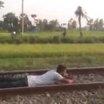 This Man Took A Speeding Train Head On… You Won't Believe What Happened Next!