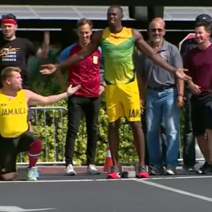 James Corden Challenged Usain Bolt To A Race To Determine Who Really Is The World's Fastest Man
