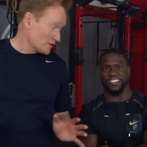 Watch Conan Hit The Gym With Kevin Hart And Then Own The Gym Like A Boss