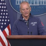 Bill Murray Decided To Crash The White House Press Briefing Room To Talk About Baseball