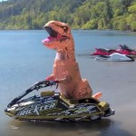 This T-Rex Decided To Steal A Jet Ski And Then Perform Some Really Crazy Tricks