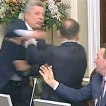 Watch This Ukrainian Lawmaker Throw Punches At The Opposition Leader During A Parliament Meeting