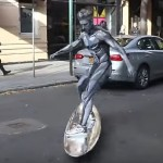 This Guy Decided To Surf Through New York City Dressed In An EPIC Silver Surfer Costume