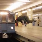 Watch This Man Perform An Insane Front Flip In Front Of A Speeding Train (Yes, You Read Right)