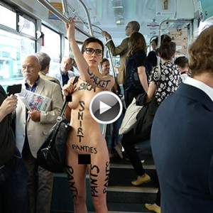 This Sexy Model Decided To Go Naked In Public To Protest Against The Stereotyped Script System