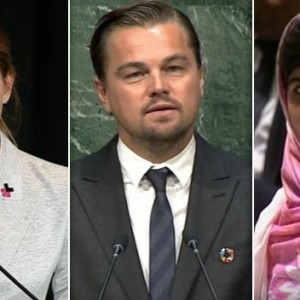 Watch Emma Watson, Leonardo DiCaprio And Malala Yousafzai Celebrate Free Speech With Awkward Silence