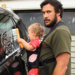 This Dad's Tutorial On Washing A Car With A Baby Will Make You Smile Until Your Face Hurts