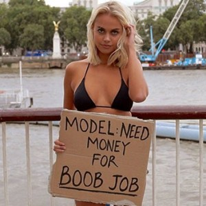 This Bikini Model Asked People To Give Her Money For A Boob Job. You Won't Believe What Happened Next