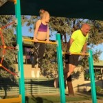 This Dad Tries To Actually Keep Up With His Daughter's Gymnastic Moves As A Way Of Encouraging Her (Yes, You Read Right)