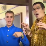 Japanese Comedian Pikotaro Finally Got To Meet Justin Bieber And The Cringe Was Off The Roof