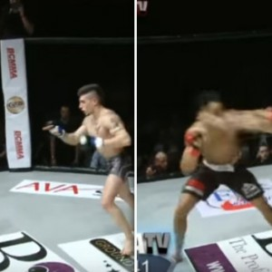 This Man Tried To Taunt His Opponent By Dancing In The Octagon. Moments Later He Got Brutally Knocked Down