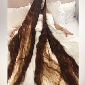 Meet The Real-Life Rapunzel Who Has An Epic 90 Inch Long Hair (Yes, You Read Right)