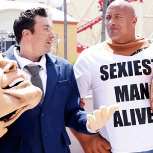 The Rock And Jimmy Fallon Decided To Wear Mascot Versions Of Themselves. The Result Was EPIC
