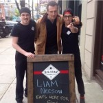 This Sandwich Shop Managed To Get Liam Neeson To Come To Their Shop With An Offer Of Free Food