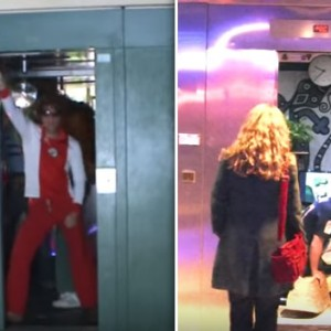 This Prankster Turned The Elevator Into A Club, A Living Room And Even A Shower. The Result Was Hilarious
