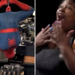 Watch The Real Life Spider-Man Grab Coffee From The Ceiling And Shock Some Starbucks Customers