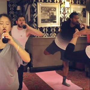 People In London Are Drinking Ice Cold Beer While Doing Yoga (Yes, You Read Right)