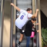 "This Prankster Got Really ""Close"" To Random People On The Escalator. The Result Was Totally Hilarious"