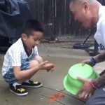 This Dad Tried To Prank His Son With Dog Poo. The Result Was A Face Full Of Karma