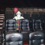 "This Man Arrived First At A Screening of ""IT""… Only To Find A Creepy Clown In The Movie Theater Already"