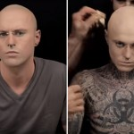 This Makeup Demonstration Is So Impressive You'd Never Guess This Man Is The Most Tattooed Person On Earth