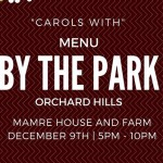 Featured Event Of The Day: Carols With Menu By The Park