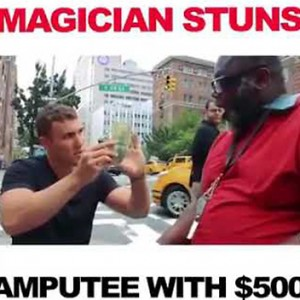 This Magician Stunned An Amputee By Changing $5 Into $500. His Reaction Will Make You Cry