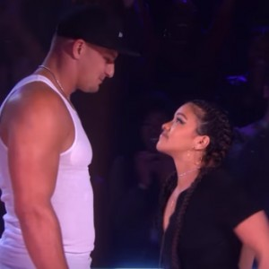 Watch Jane The Virgin Star Gina Rodriguez Destroy Super Bowl Champion Rob Gronkowski In A Rap Battle