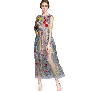 Fab Fashion Find Of The Day: Dezzal's Floral Embroidered Maxi Dress