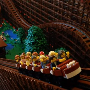 Make Way For The World's Largest LEGO Wooden Roller Coaster