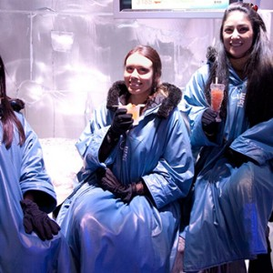TV Show Models Just Braved Minus Ten Degrees At The Melbourne Ice Bar