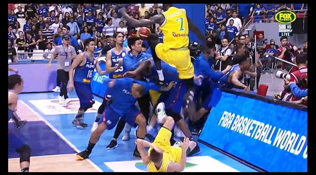Australia Boomers Vs Philippines Basketball Game Erupts ...