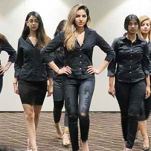 Liza Varma Leads The AIWE Models In The Final Rehearsal For A Spectacular Fashion Show At The Hyatt Regency