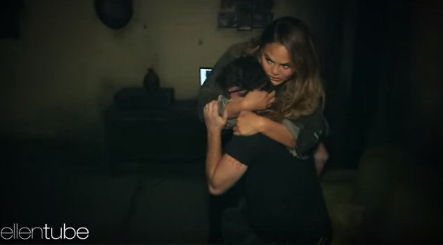 Chrissy Teigen Average Andy Just Went Through A Haunted House For