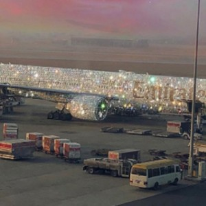 The Internet Is Going Nuts Over Emirates' 'Diamond-Covered' Plane