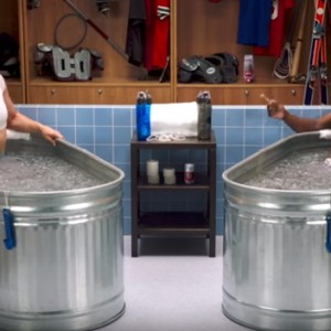 """Ronda Rousey Sits In Ice And Joins Kevin Hart In """"Cold As Balls"""""""