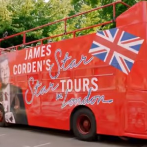 James Corden Takes The 'Dark Phoenix' Cast On An Epic London Bus Tour