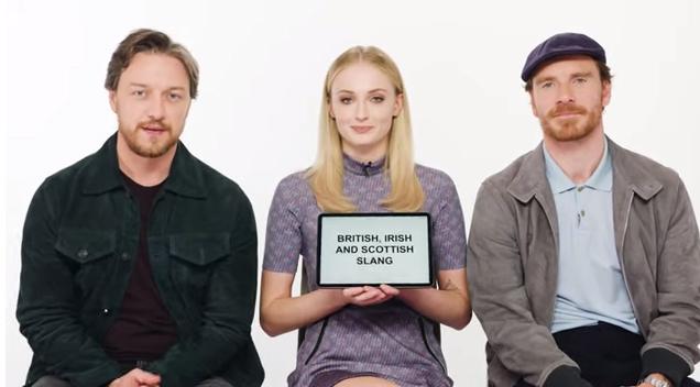 Watch The X Men: Dark Phoenix Stars Teach You English, Scottish and