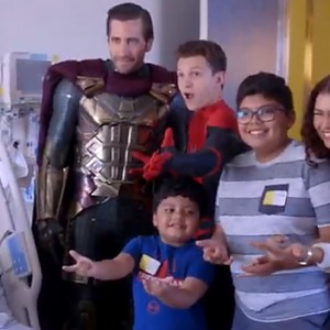 The Cast of 'Spider-Man' Just Surprised A Children's Hospital In Their Costumes
