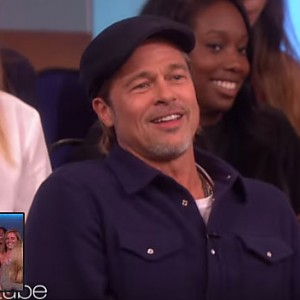 Watch Superfan Brad Pitt Distract Ellen During A Live Taping While Sitting In The Audience