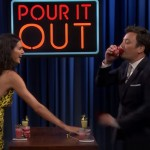 Watch Kendall Jenner Take On Jimmy Fallon In Pour It Out With Hilarious Results