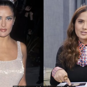 Watch Salma Hayek Break Down 13 Of Her Most Iconic Fashion Looks From 1996 To Now