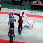 Watch This Karate Referee Go ABSOLUTELY NUTS And Beat Up Both Competitors…WTF??