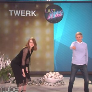 Emma Stone Decided To Twerk On The Ellen DeGeneres… And She Brought The House Down!