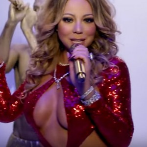 """Mariah Carey Just Released Her New Christmas Music Video For """"Here Comes Santa Claus"""" And It's Smoking Hot"""